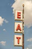 Mangez le signe Image libre de droits