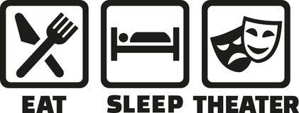 Mangez le théâtre de sommeil illustration stock
