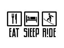 Mangez le tour de sommeil illustration libre de droits