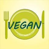 Mangez le vegan illustration de vecteur