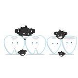 mangez les dents Images libres de droits