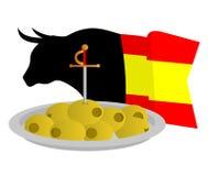 Mangez les Espagnols illustration de vecteur