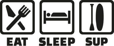Mangez les icônes de PETITE GORGÉE de sommeil illustration libre de droits