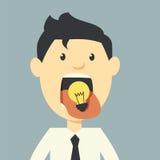 Mangez les idées illustration libre de droits