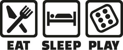 Mangez les matrices de jeu de sommeil illustration libre de droits