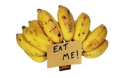 Mangez-moi banane Photo stock