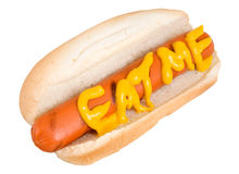 Mangez-moi dit le hot-dog Photo libre de droits