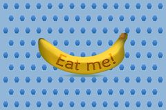 Mangez-moi illustration de vecteur de banane illustration libre de droits