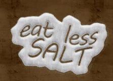 Mangez moins de sel Images libres de droits