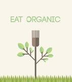 Mangez organique avec le texte illustration stock