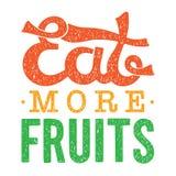 Mangez plus d'illustration de motivation de vecteur de fruits illustration de vecteur