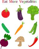 Mangez plus de légumes illustration de vecteur