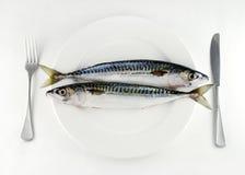 Mangez plus de poissons Photos libres de droits