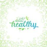 Mangez sain - affiche ou bannière de motivation illustration de vecteur