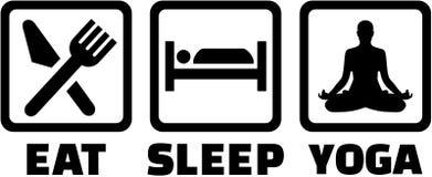 Mangez, sommeil et faites le yoga illustration libre de droits
