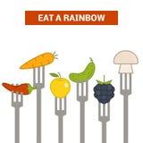 Mangez un arc-en-ciel illustration de vecteur