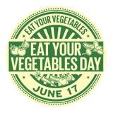 Mangez votre jour de légumes illustration stock