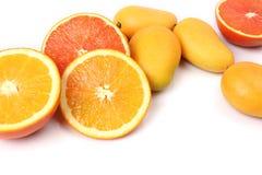 Manghi ed arance Fotografie Stock Libere da Diritti