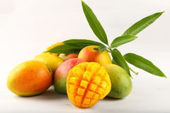 Manghi freschi di Delecious Alphonso Fotografia Stock