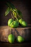 Manghi verdi freschi in Tailandia Fotografia Stock