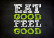 Mangi buon si sentono bene Fotografie Stock Libere da Diritti
