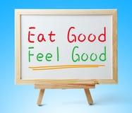 Mangi buon si sentono bene Fotografia Stock Libera da Diritti