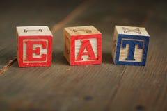 Mangi i blocchi di legno Fotografia Stock Libera da Diritti