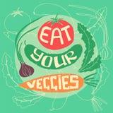 Mangi i vostri veggies illustrazione vettoriale