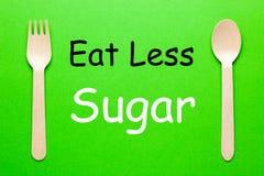 Mangi il meno zucchero immagini stock