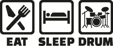 Mangi il tamburo di sonno illustrazione vettoriale
