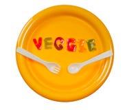 Mangi il veggie fotografia stock libera da diritti
