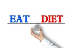 Mangi l'equilibrio di dieta Fotografia Stock Libera da Diritti