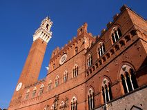 Mangia tower and Palace in Siena, Italy Royalty Free Stock Image