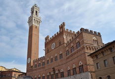 Mangia Tower Siena Royalty Free Stock Images