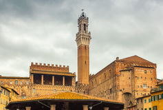 Mangia Tower, Siena, Italy royalty free stock photography