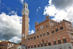 Mangia Tower in Siena, Italy Stock Photo