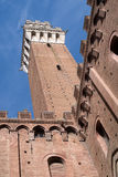The Mangia tower, Siena, Italy Stock Photo