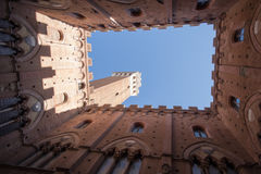 The Mangia tower, Siena, Italy Royalty Free Stock Photography