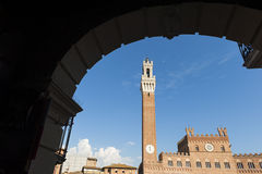 Mangia Tower Siena Royalty Free Stock Photo