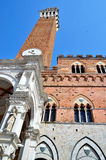 Mangia Tower in Siena Stock Image