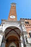 Mangia Tower in Siena Stock Photos