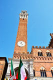 Mangia Tower in Siena Stock Photo