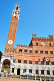 Mangia Tower in Siena Royalty Free Stock Photo