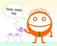 Mangiamo un certo tè Immagini Stock Libere da Diritti