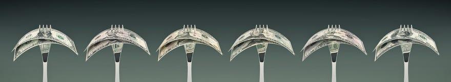 Mangiando dollaro americano - concetto di successo di affari Immagini Stock Libere da Diritti