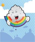 Mangiatore del Rainbow nel cielo Immagini Stock Libere da Diritti