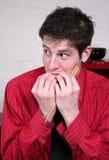 Mangiatore di uomini con le mani Fotografie Stock