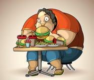 Mangiatore pesante Immagini Stock