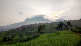 Manglayang berg västra java indonesia royaltyfri foto