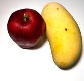Mango & äpple royaltyfri bild